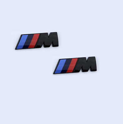 AU25.50 • Buy 2 X M-Sport Front Wing Badge Boot/Trunk Logo Emblem For BMW BK Small