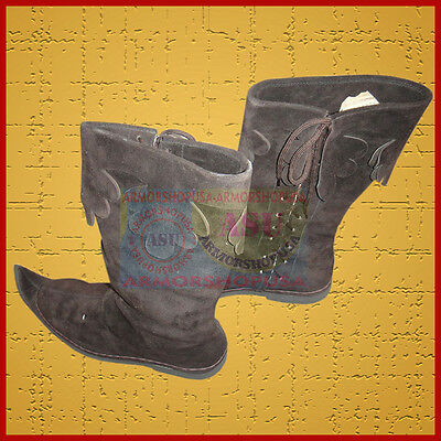 £20 • Buy Medieval Leather Brown Reenactment Mens Shoe Sca Larp Role Play  Costume Boot