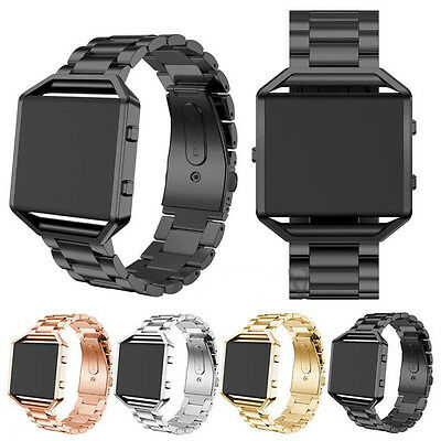 $ CDN24.51 • Buy For Fitbit Blaze Tracker Stainless Steel Metal Strap Watch Band &Frame Wristband