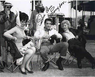 $150 • Buy Elvis Presley Signed Photo Sue Ane Langdon Costar ROUSTABOUT Excellent RARE