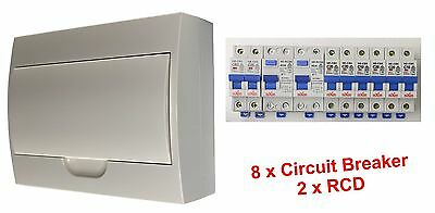 AU72.50 • Buy Complete 12 Pole Distribution Switchboard Safety Switches - 2 X RCD / 8 X MCB