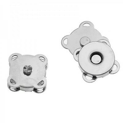 10 Sets Silver Sew On Magnetic Snap Clasps For Purses Or Bags • 3.90£