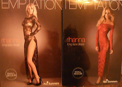 £7.46 • Buy New Ladies Ann Summers Rihanna Lacy Body Dress Sexy Gown Red + Free Garter !