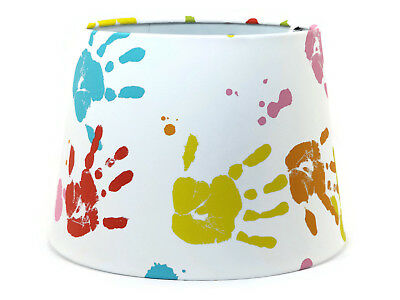 Hand Print Lampshade Light Shade Boys Girls Bedroom Nursery Accessories Gifts • 26.99£