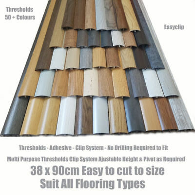 Threshold Strip Transition Trim For Flooring Door Bar Cover 38mm X 90cm Adhesive • 11.49£