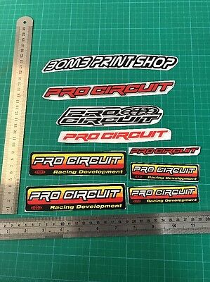 Pro Circuit Exhaust Stickers X8 Clearance Motox • 4.99£