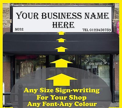3500mm L Front Shop Sign-writing Lettering Self Adhesive Vinyl Fascia Sticker • 53.99£