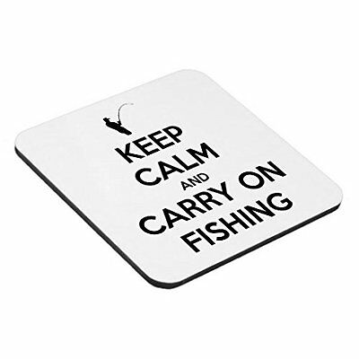 Keep Calm And Carry On Fishing - Funny Quality Square Wooden Coaster • 2.99£