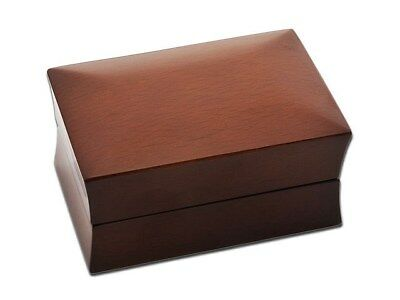 F.Hinds Luxury Mahogany Coloured Wooden Double Jewellery Wedding Rings Box • 6.99£
