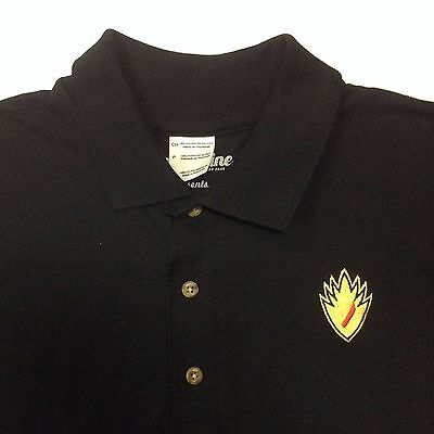 e3d461b0 Men's GUARDIANS OF THE GALAXY Polo Shirt Embroidered MARVEL Black Small S •  21.24$
