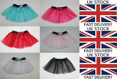 Tutu Skirt Dress Up Birthday Party Ballerina Girls Kids Children Dance Princess • 2.49£
