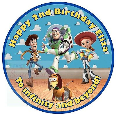 Toy Story Cake Topper Edible Personalised Icing Woody Buzz Lightyear Decoration • 5.99£