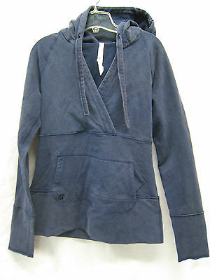 $ CDN126.84 • Buy Lululemon Jacket Sweater With Hoodie In Navy Blue Tall Size Ladies 8 EUC
