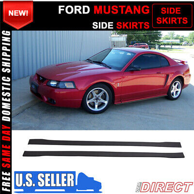 $99.99 • Buy For 99-04 Ford Mustang Side Skirts Extensions Splitters - PP