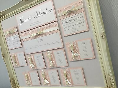 £99.99 • Buy Fairytale | Ornate Vintage Frame | Lace | Pearl | Bow | Wedding Table Plan