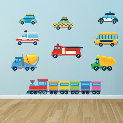 Train Truck Car Childrens Wall Sticker Set WS-41286 • 13.95£