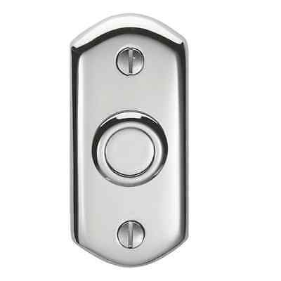 Carlisle Brass Shaped Bell Push Door Bell 74x35 Polished Chrome AQ31 • 21.59£