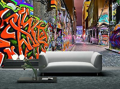 £60.01 • Buy Night View Of Graffiti  Wall Mural Photo Wallpaper GIANT WALL DECOR Paper Poster