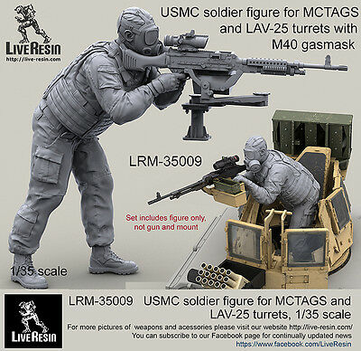 $ CDN29.25 • Buy Live Resin 1/35 LRM-35009 USMC Soldier For MCTAGS & LAV-25 Turrets W/M40 Gasmask