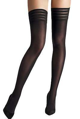 Wolford Velvet De Luxe 50 Stay Up • 37£