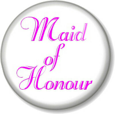 £0.99 • Buy Maid Of Honour 25mm Pin Button Badge Wedding Hen Party Do Favour Gift Bridesmaid