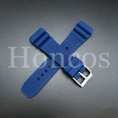 $ CDN11.77 • Buy 22 MM Blue Silicone Rubber Watch Band Strap Fits Seiko Diver 2020 Model SKX USA