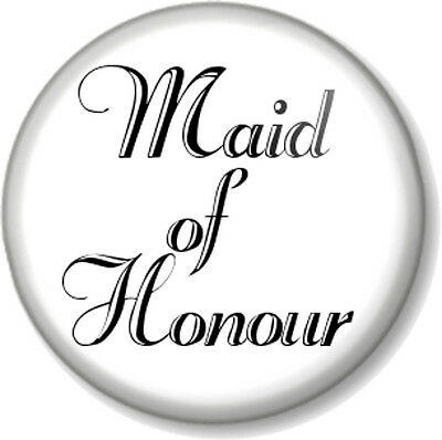 £0.99 • Buy Maid Of Honour 1  Pin Button Badge Wedding Hen Party Do Favour Gift Bridesmaid B
