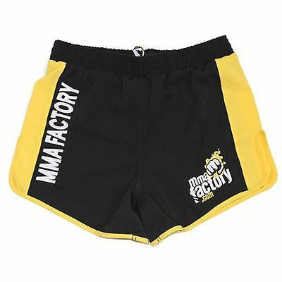 AU39.99 • Buy MMA FACTORY Renegade Ring Edition 2.0 Shorts - Black / Yellow