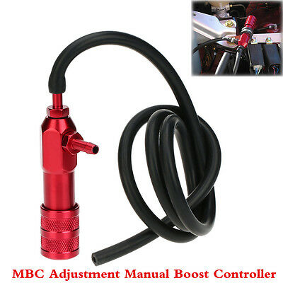 $ CDN35.12 • Buy MBC Adjustment Manual Turbo Boost Controller Universal Red Polished Racing Parts