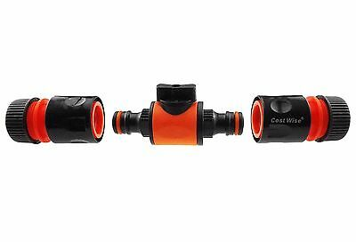 No Leak In-line Tap/valves With Hose Connectors,for Garden Hose/irrigation Pipe, • 5.99£