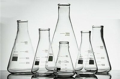Borosilicate Glass Conical Flask Erlenmeyer Graduated Boro 3.3 Lab Glassware  • 16.98£