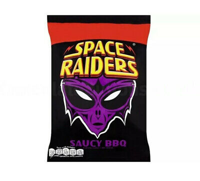 Space Raiders Saucy BBQ Flavour  X 25g Bags Full Box Only £10.89  • 10.89£