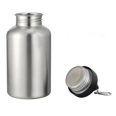 AU18.19 • Buy 2L 304 Stainless Steel Wide Mouth Cycling Sports Drinking Water Bottle Cup