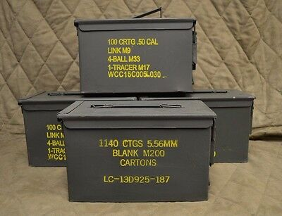 $59.95 • Buy 4 PACK 50 Cal M2A1 AMMO CAN COMPLETELY REFURBISHED GREAT CONDITION FREE SHIPPING