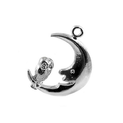 £9.99 • Buy Sterling Silver Owl & Moon Charm