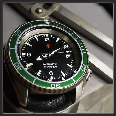 $ CDN690.80 • Buy Müller&Son Watch Mod Green Black  Planet Ocean  SuperMod Made From Seiko SKX007