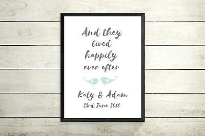Personalised Wedding Engagement Print -  Mr And Mrs - Gift / Present • 5.99£