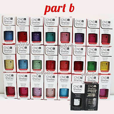 AU18.18 • Buy CND Shellac UV LED Gel Nail Polish Base Top Coat 7.3ml 0.25oz Pick ANY * PART B