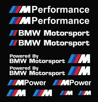 $9.99 • Buy ///m Performance Power Motorsport Car Stickers Decals Kit Sets For Bmw 15x15 Cm
