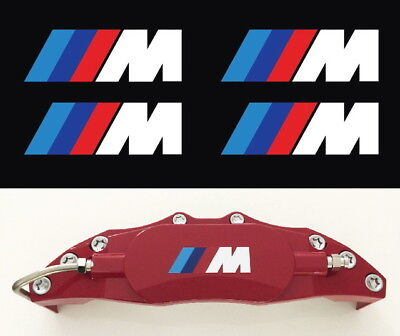 $6.99 • Buy 4X M BRAKE CALIPER PERFORMANCE POWER CAR DECALS STICKERS FOR BMW SIZE 50mm