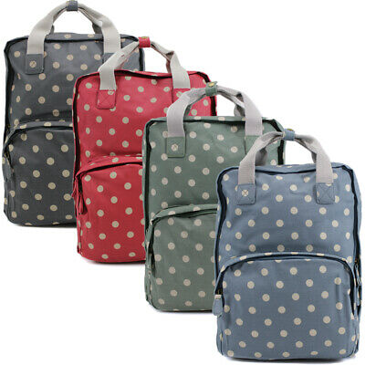 Ladies Oilcloth Backpack Rucksack School College Shoulder Laptop Bag Womens • 22.95£