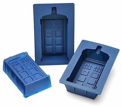 New DOCTOR WHO Licensed Set Of 2 TARDIS Silicone Cake, Jello, Chocolate Mold Pan • 7.99£