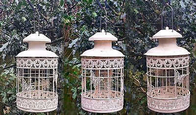 £20.99 • Buy Bird Feeder Seed Nut Fat Ball Metal Butterfly Squirrel Proof Hanging