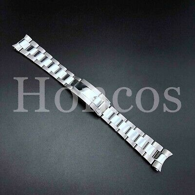 $ CDN60.51 • Buy 20MM Submariner Watch Band Bracelet Polish Brust Silver Fits For Rolex Oyster