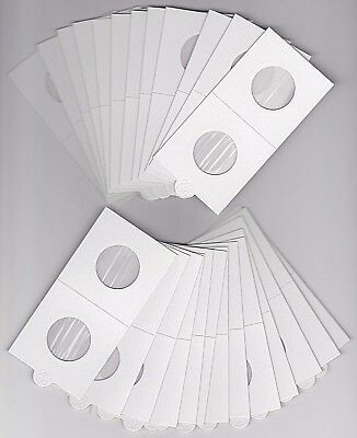AU7.95 • Buy LIGHTHOUSE 25mm SELF ADHESIVE 2 X 2  COIN HOLDERS X 25 - SUITS SHILLING/TEN CENT