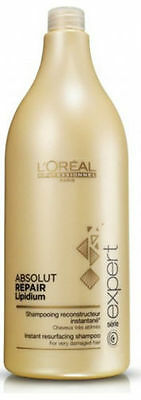 Serie Expert Shampoo Champu Absolut RepaiR LipidiuM 1500ML LoreaL + Free Pump • 34.12£