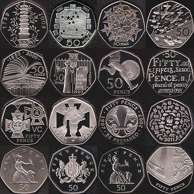 £14.95 • Buy Proof 50p 1971 - 2020 Fifty Pence Coins  Choose Your Dates Coin Hunt Kew Gardens