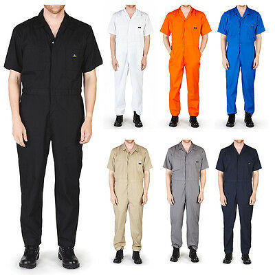$29.90 • Buy Mens Short Sleeve Coverall Overall Boilersuit Mechanic Protective Work Wear