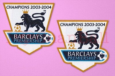 £9.99 • Buy England Premier League Champion 03/04 Sleeve Gold Patch / Badge Arsenal Jersey