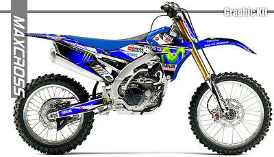 $150.07 • Buy Yamaha Wr250f Wr450f Yz250f Yz450f Yz250fx Yz450fx Maxcross Graphics Full Kit 03